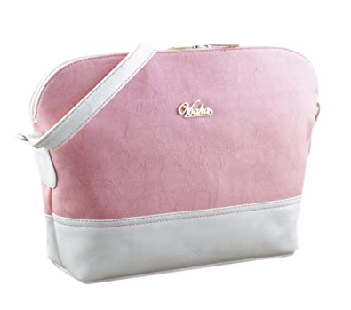8ad1a486e2 Voaka Women s Sling Bag (Available in Pink   White) (Pink)  Amazon ...