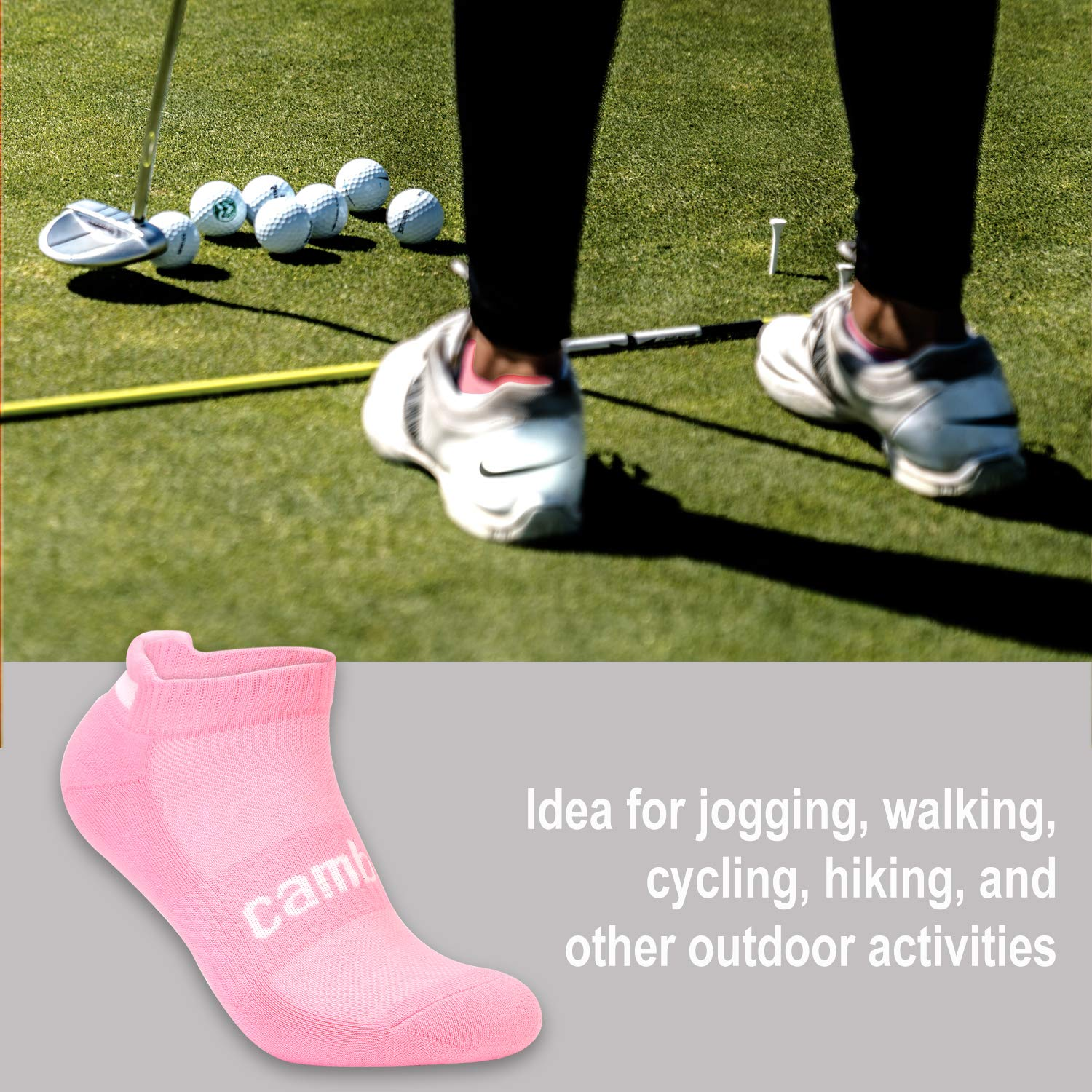 CAMBIVO Womens Socks Walking 3 Pairs Cushioning Low Cut Ankle Socks for Running Jogging and Great for Daily Wear