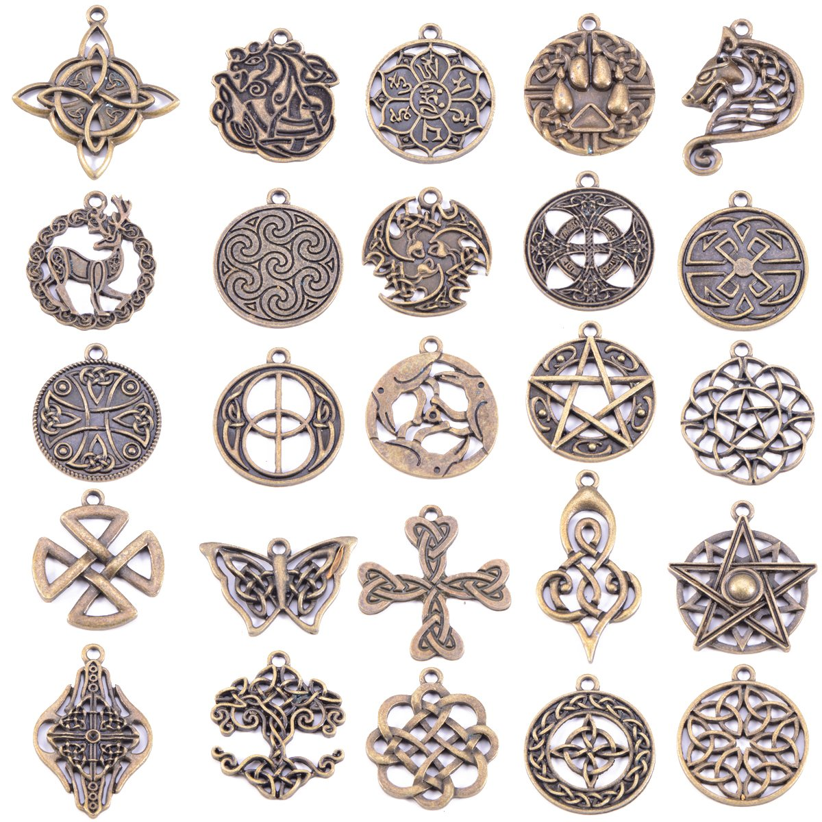 Amazon Celtic Irish Knot Charms For Jewelry Making 25 Packs