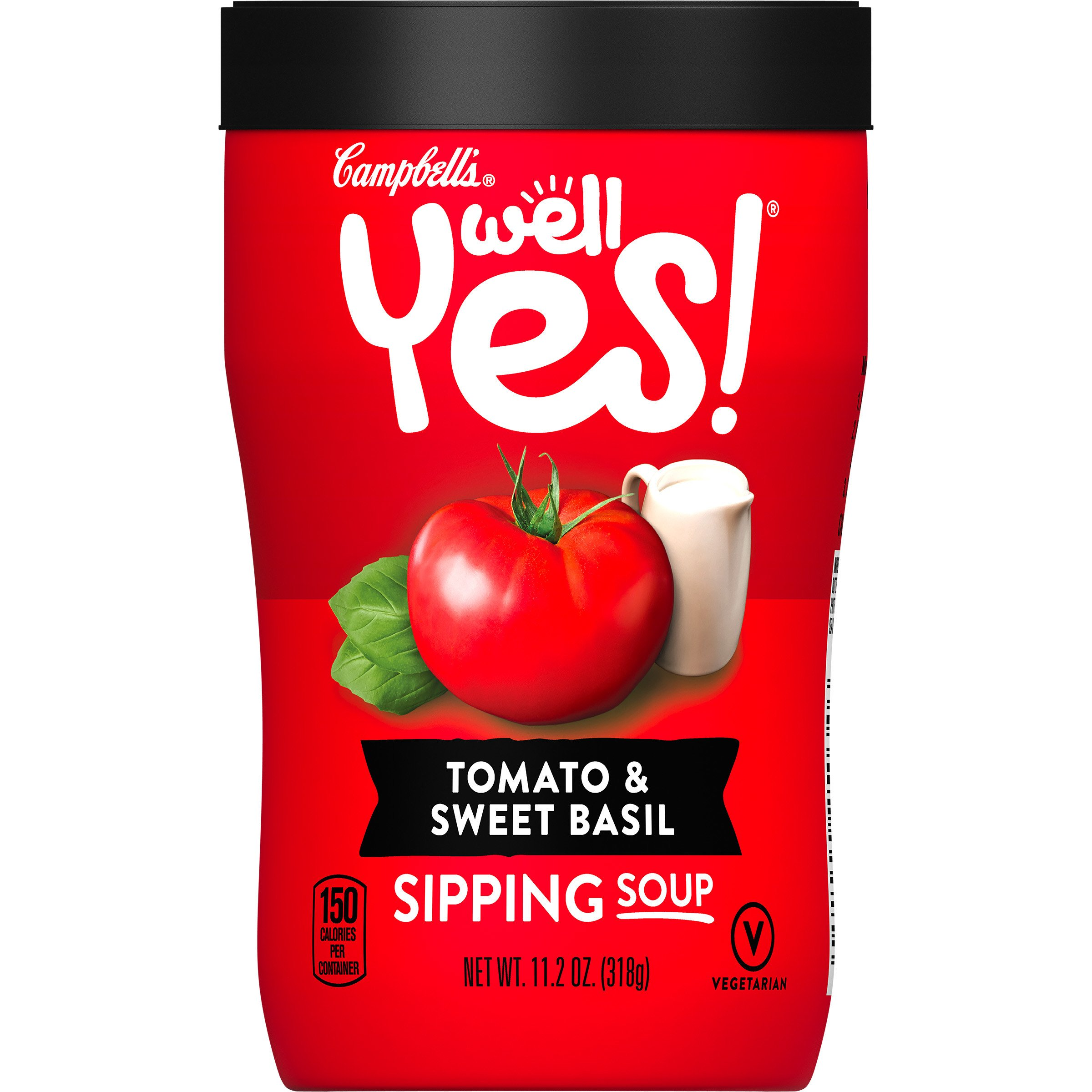 Campbell's Well Yes! Sipping Soup, Tomato & Sweet Basil, 11.2 oz. Cup by Well Yes!