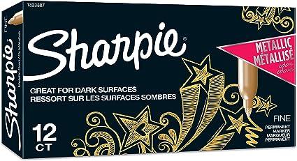 Rotuladores permanentes metálicos de punta fina de Sharpie, color ...