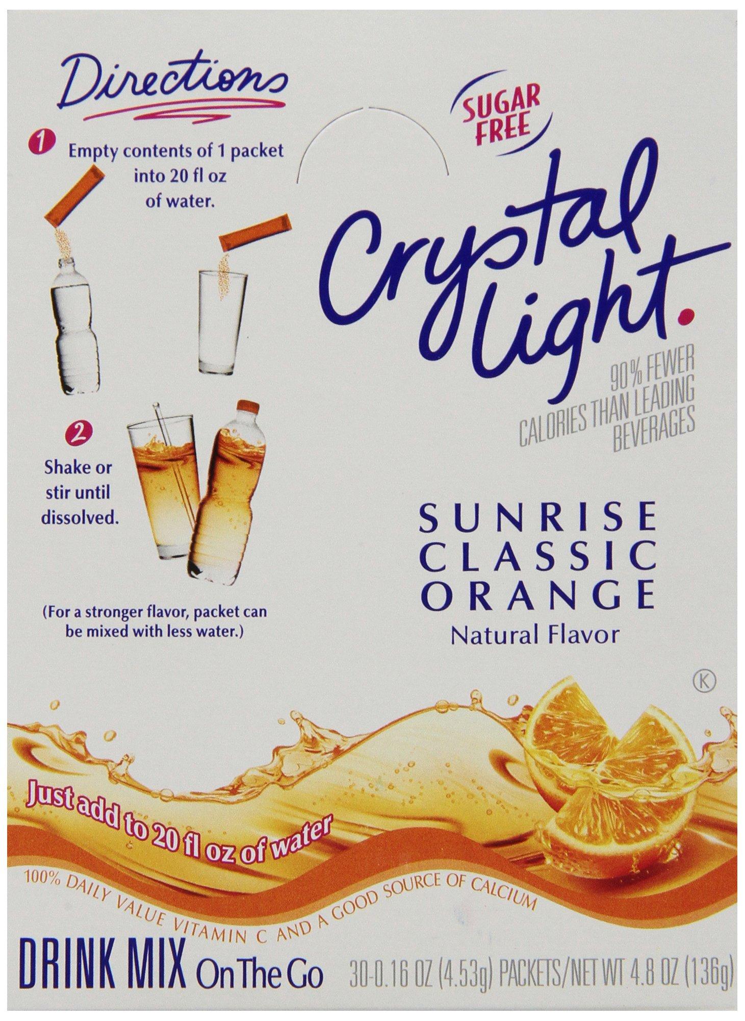 Crystal Light On-the-Go Sunrise Orange Mix, 2.4 oz. pack, Pack of 30