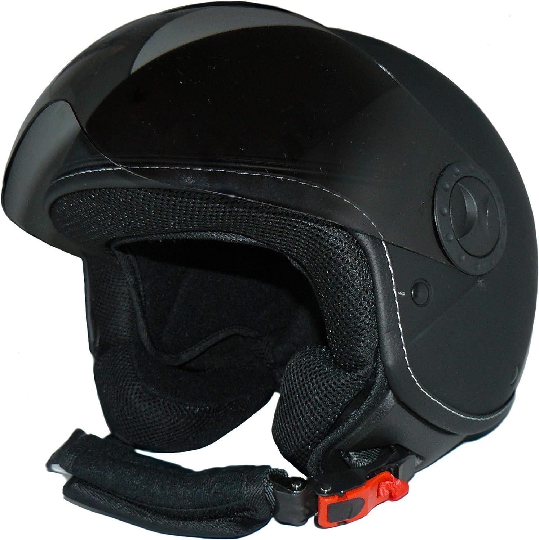 Protectwear Casco abierto con facial con visera larga h730-rt-s Rojo