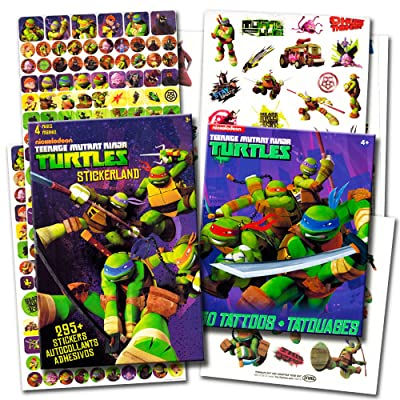 TMNT Teenage Mutant Ninja Turtles Stickers & Tattoos Party Favor Pack (270 Stickers & 50 Temporary Tattoos): Toys & Games