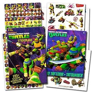 TMNT Teenage Mutant Ninja Turtles Stickers & Tattoos Party Favor Pack (270 Stickers & 50 Temporary Tattoos)