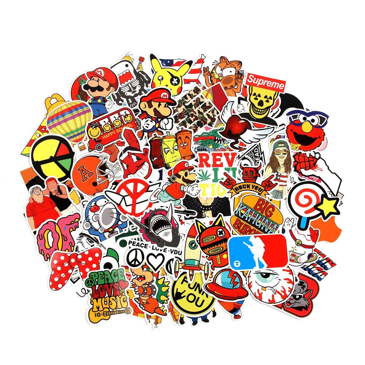 Stickers Calcos 100 un. Surtidos Origen U.S.A. (741T7SK5)
