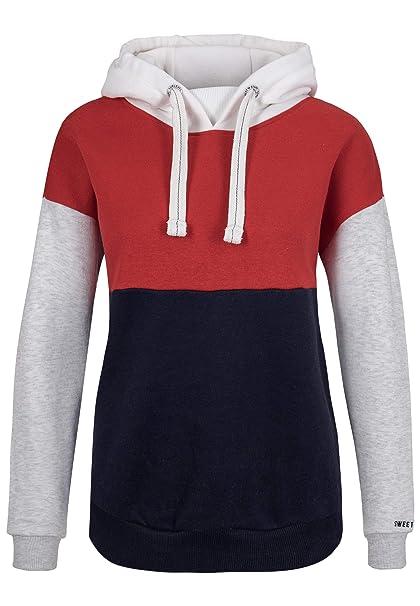 b4d654fe2b62 Sublevel Damen Sweat-Hoodie mit Kapuze im Colourblock Style  Amazon.de   Bekleidung