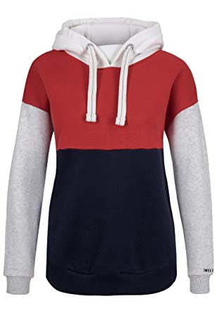 0e8663a40cbc6e Sublevel Damen Sweat-Hoodie mit Kapuze im Colourblock Style: Amazon.de:  Bekleidung