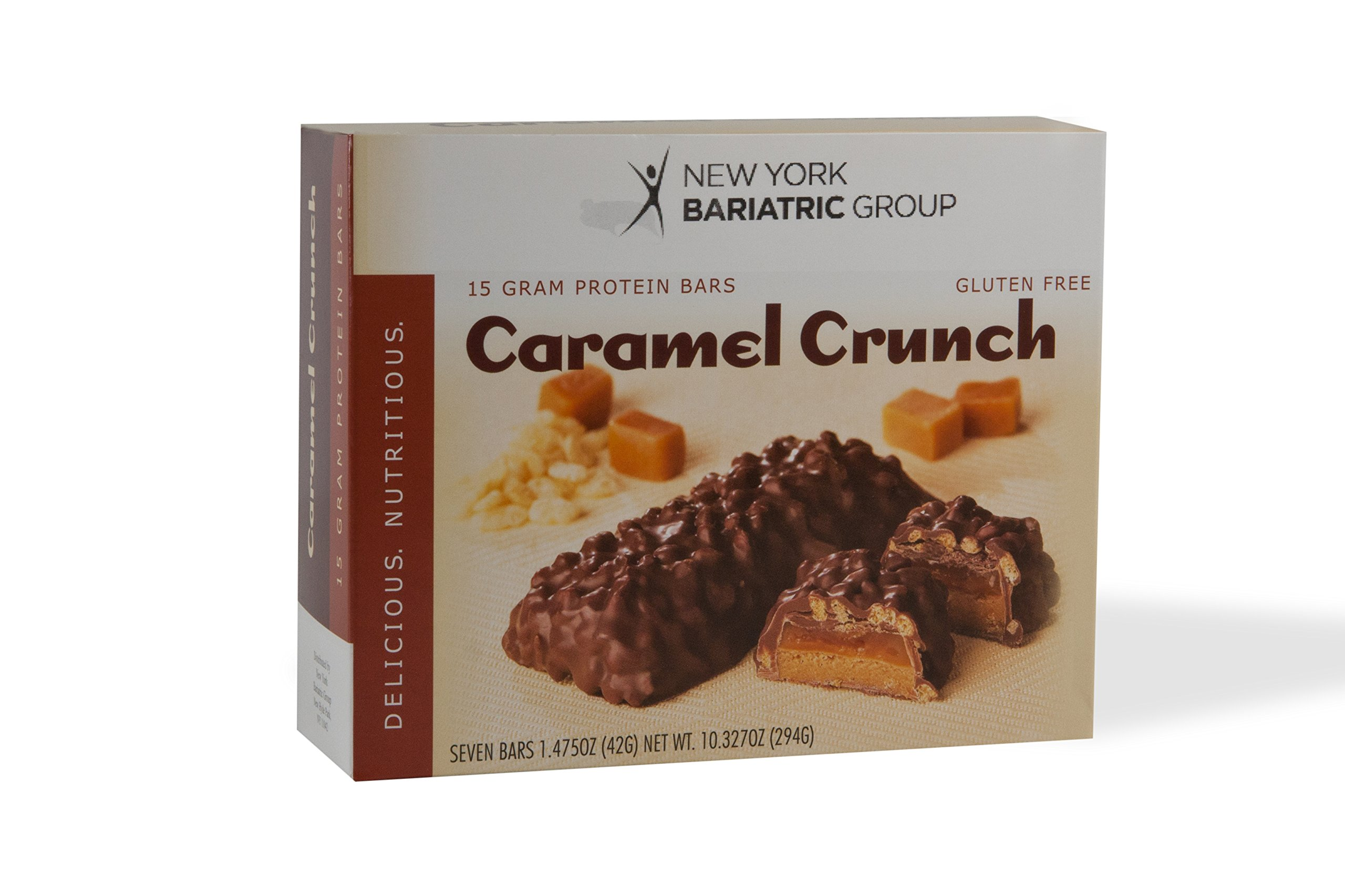 New York Bariatric Group Protein Bars (7 Bars) - Caramel Crunch Protein Bar