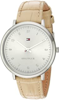 Tommy Hilfiger Womens SPORT Quartz Stainless Steel and Leather Casual Watch, Color: