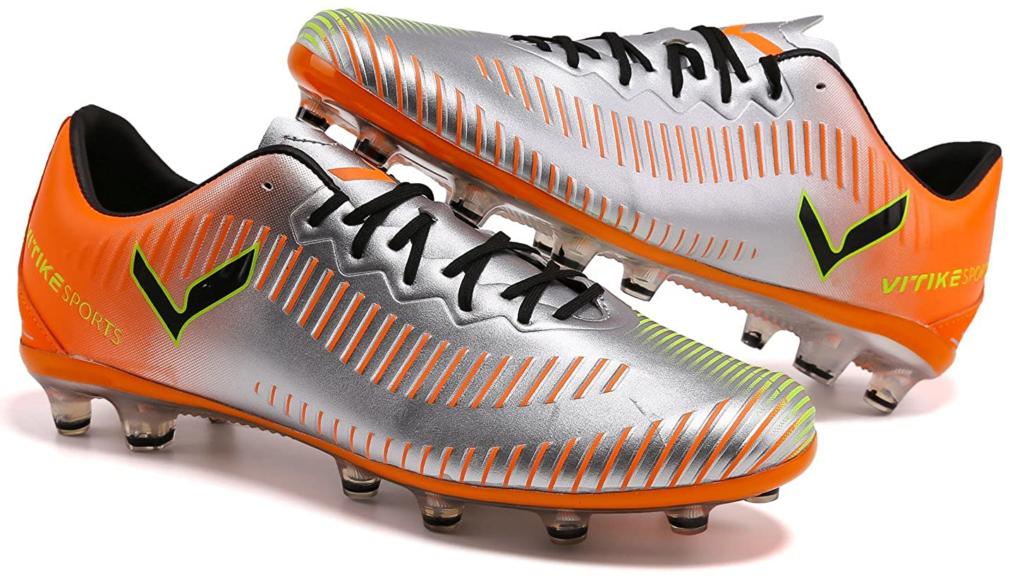 VITIKE Soccer Shoes Cleats High-top Sock Ankle Care Performance Football Cleats Shoes