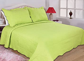 High Quality All For You 3 Peice Reversible Bedspread/Coverlet/Quilt Set Full/