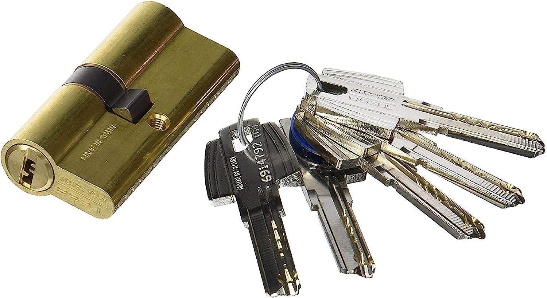 Tesa Assa Abloy 3010109 Cilindro Tesa Seguridad T60 /30x40 Latonado, 30 x 40 mm