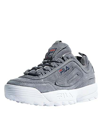 f3fe58720097 Fila Disruptor S Low Monument Grey 10104366QW, Deportivas  Amazon.es   Zapatos y complementos