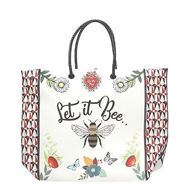 PE18DAA02160-03 Shopping Bag Damen white UNICA Le Pandorine yoRGY8HW