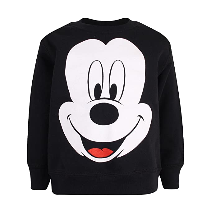 Disney Mickey Face, Sudadera para Niños, Negro (Black) 5-6 Años