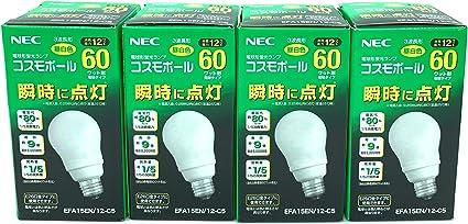 Amazon 4個セット Nec 電球形蛍光ランプ A形 コスモボール 昼白色 60w相当タイプ 口金e26 Efa15en 12 C5 スクリーンプロテクター 通販