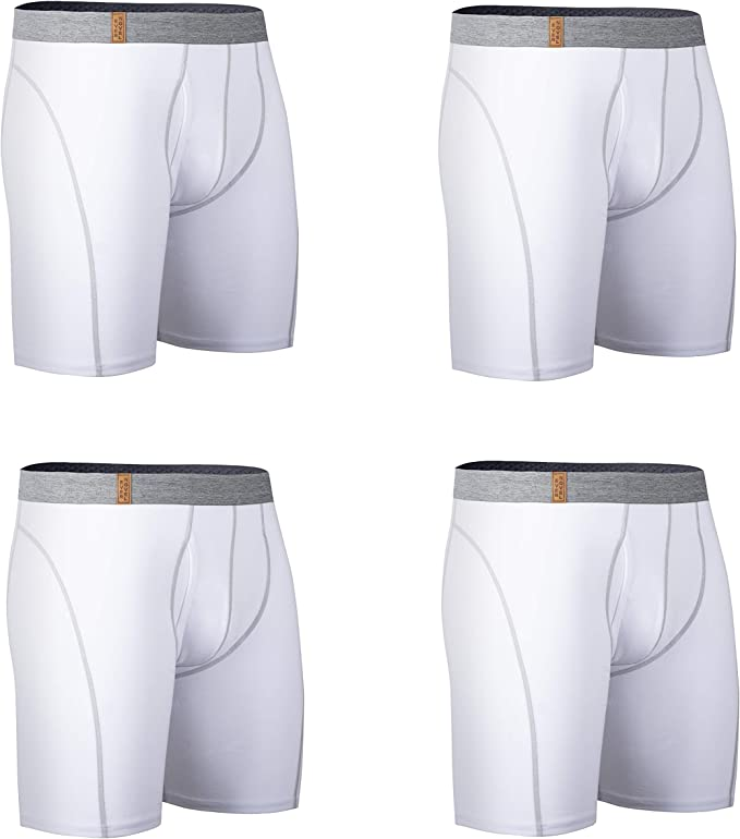 Osave Mens 2-Pack Cotton Stretch Boxer Brief Mens Breathable Underwear