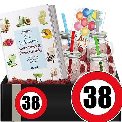 Zahl 38 Geschenkpaket Gesundheit 38 Geburtstag