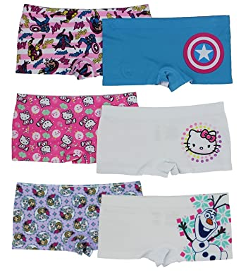 6550ee478e5f Image Unavailable. Image not available for. Color: Disney Girls Boyshort  Assorted Underwear Pack ...
