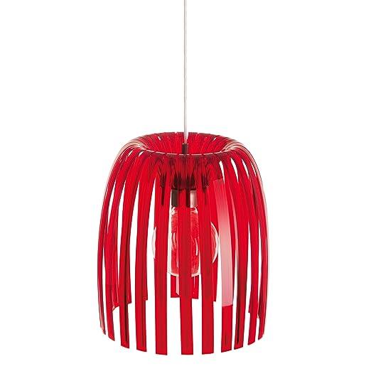 Koziol Hanglamp Josephine M.Koziol Josephine M Medium Hanging Lamp Transparent Red Amazon Co