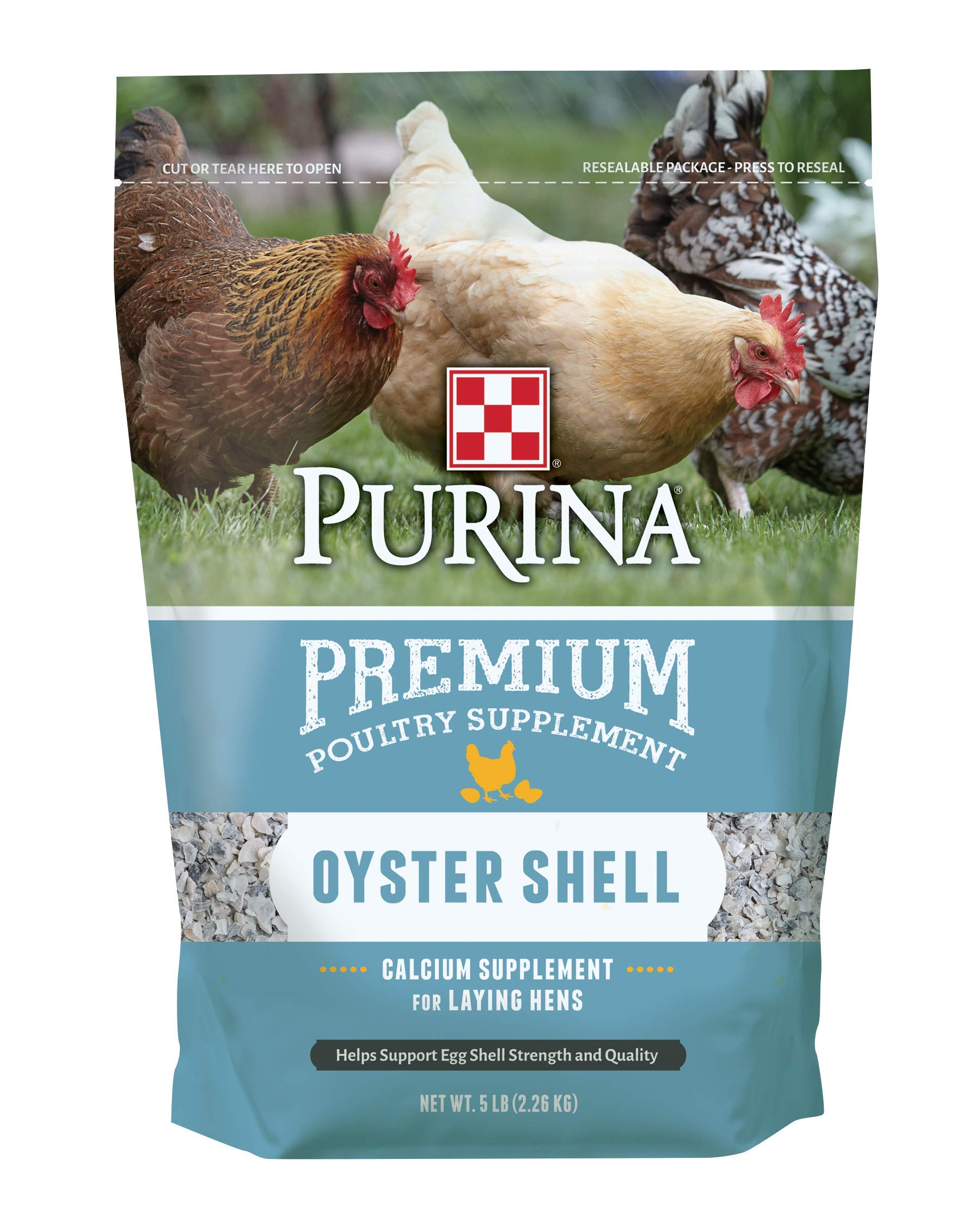 Purina Oyster Shell Poultry Supplement, 5 lb bag by Purina