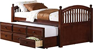Coaster Home Furnishings Bed Chestnut Drawers Twin Captain's W/Trundle