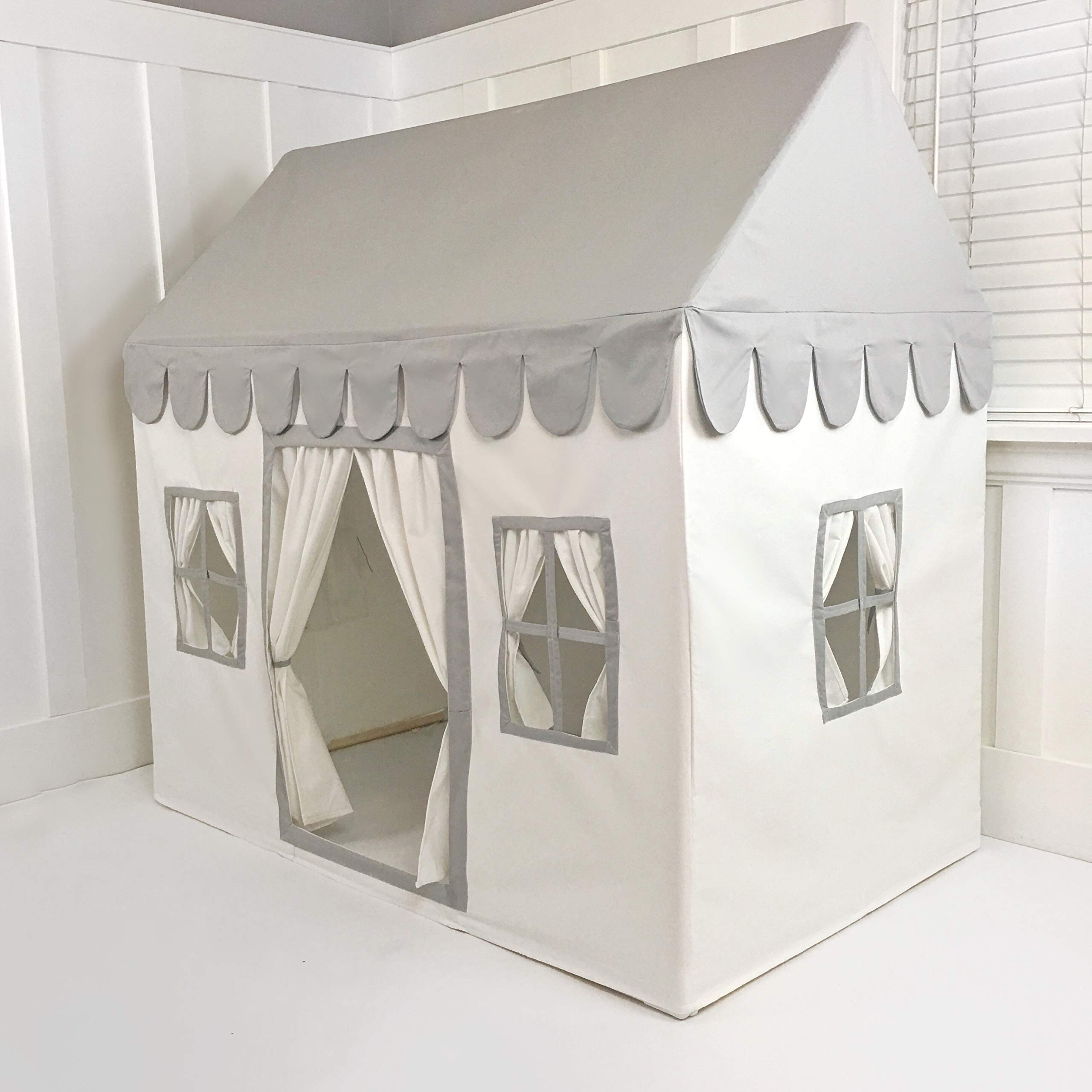 Domestic Objects Childrens Playhouse. Handmade Premum Quality (Grey & White)