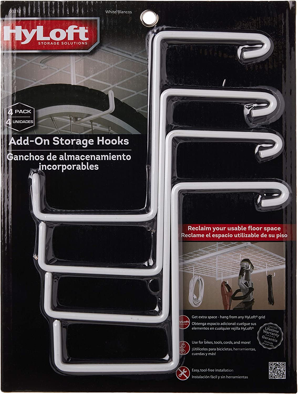 Hyloft 00212 Add On Storage Hook Accessory For Hyloft Model 540 Ceiling Rack 4 Count Utility Hooks Amazon Com