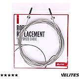 Cable de repuesto para comba de saltar de Crossfit, Fitness y Boxeo por VELITES | Acero de 1.8 mm | Para atletas y competición | Mejora tus marcas de saltos dobles | Compatible con otras marcas.