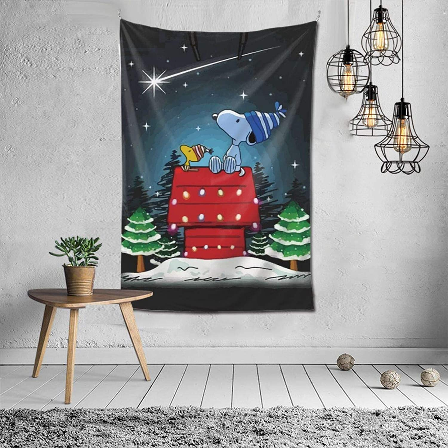 MPJTJGWZ 3D Print Cute Snoopy Tapestry Art Hanging Bedroom Living Room Dorm Wall Blankets Home Decor 60 x 40 in