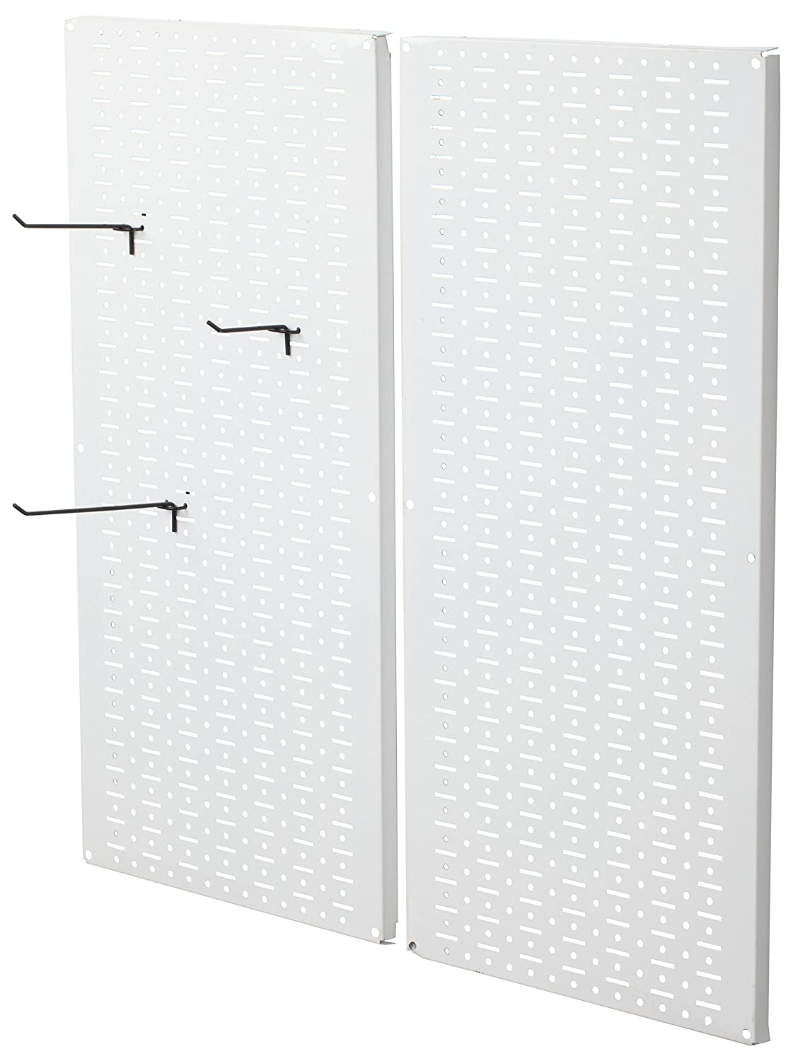 Muscle Rack CPB2-WT Steel Pegboard 2 Pack, White, 32