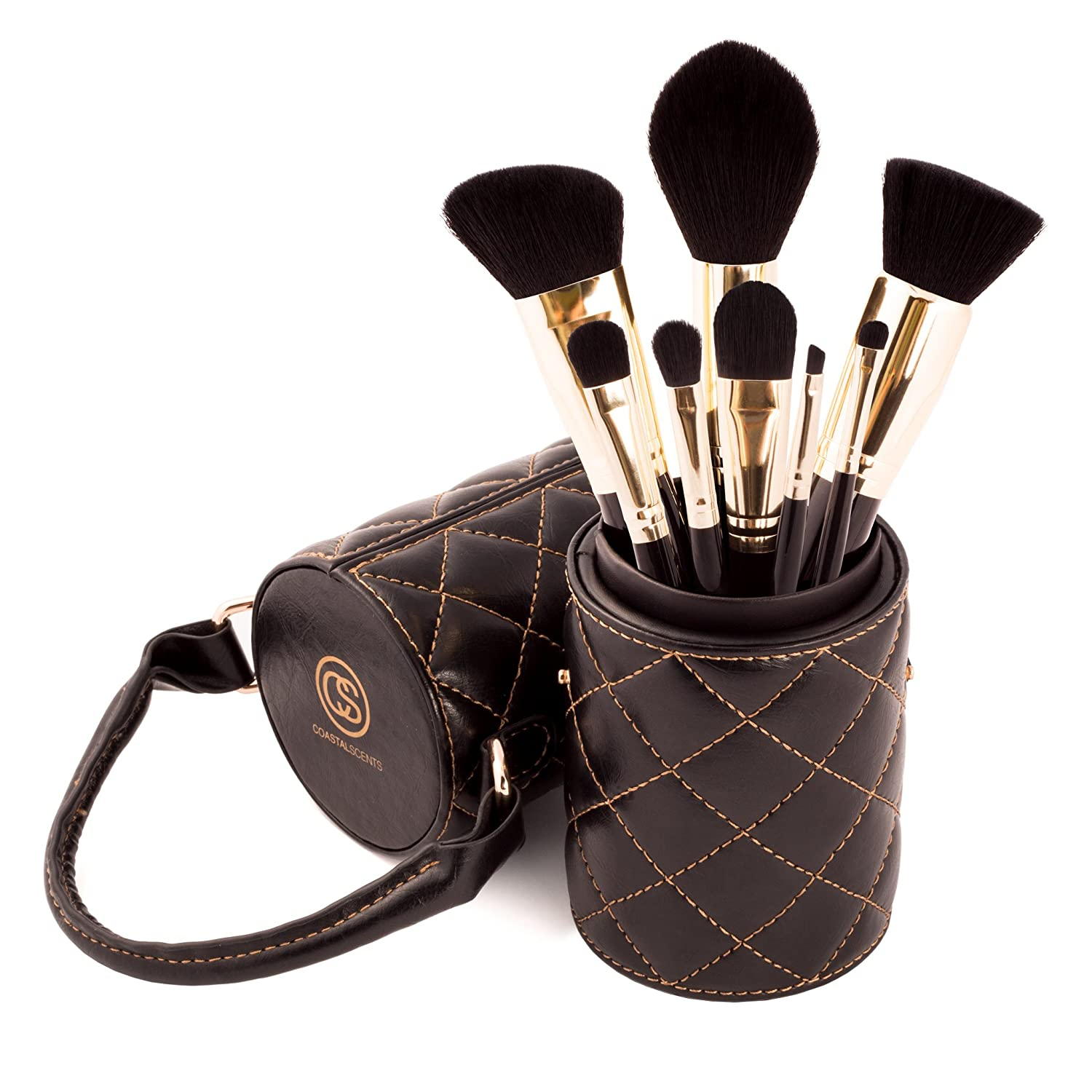 Coastal Scents Majestic 8-piece Makeup Brush Set with Carrying Case