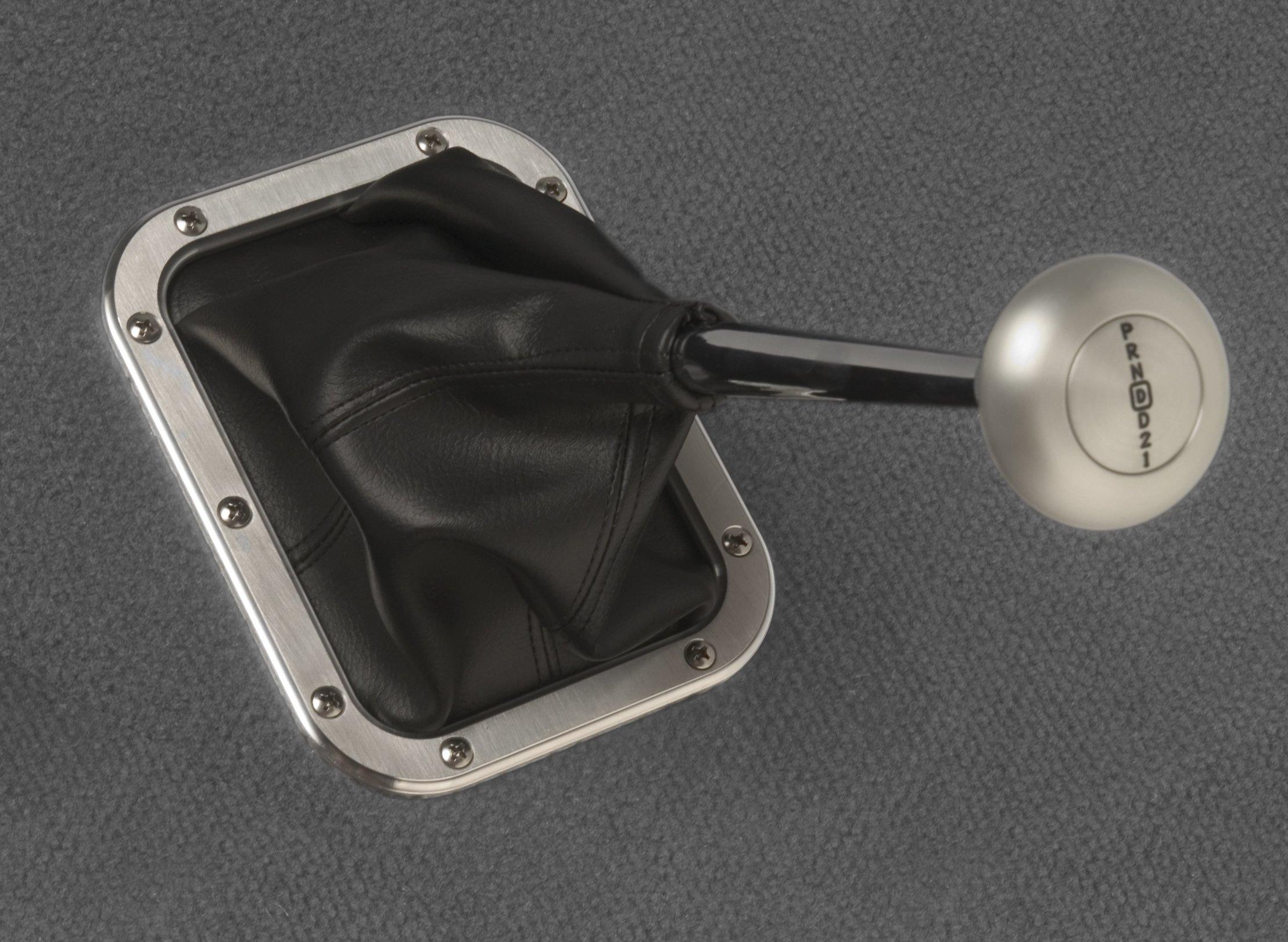 Lokar 70-BFMB Billet Rectangular Boot Ring with Boot by Lokar