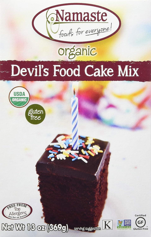 Namaste Foods Organic Gluten Free Devil's Food Cake, 13 Ounces – Allergen Free