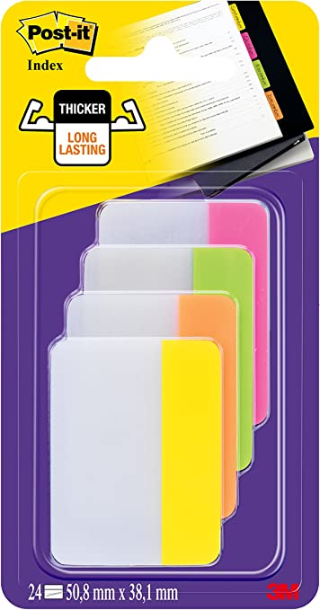 Arancio//Azzurro//Lime 60 Pezzi Post-it Index Firma Qui Segnapagina Freccia