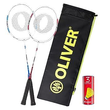edb6025e91f 24 7 Oliver Oliver badminton set 2 Rackets (P500) + Balls + Case  Amazon.co. uk  Sports   Outdoors