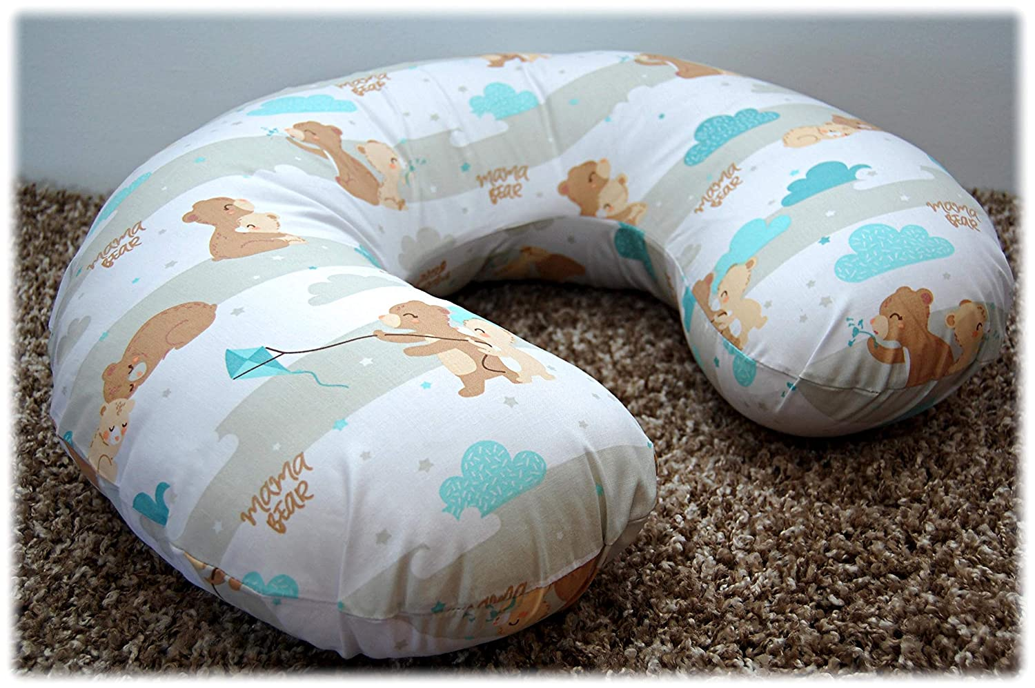 6 Cotton Cover for Multipurpose Breast Feeding MATERNITY Nursing Pillow Cover ONLY