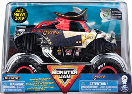 Amazon Com Monster Jam Official Pirate S Curse Monster Truck Die Cast Vehicle 1 24 Scale Toys Games