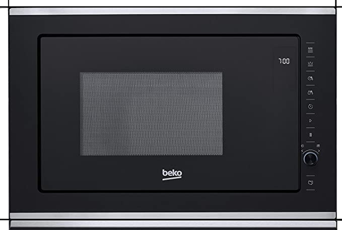 Beko MGB 25333 BG Microondas con Grill, 900 W, 25 litros, Acero Inoxidable