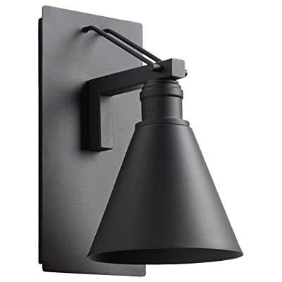 Stone & Beam - IOL408BK-A Modern Cone-Shaped Indoor Outdoor Wall Mount Sconce with Light Bulb - 11.75 x 8.5 x 6.75 Inches, Black