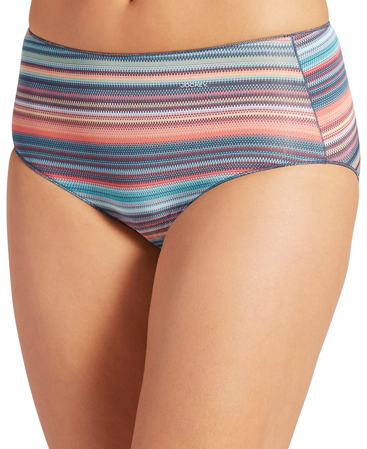 178c6991841e Jockey Women's Underwear No Panty Line Promise Tactel Hip Brief, Sunset  Stripe, 5: Amazon.in: Clothing & Accessories