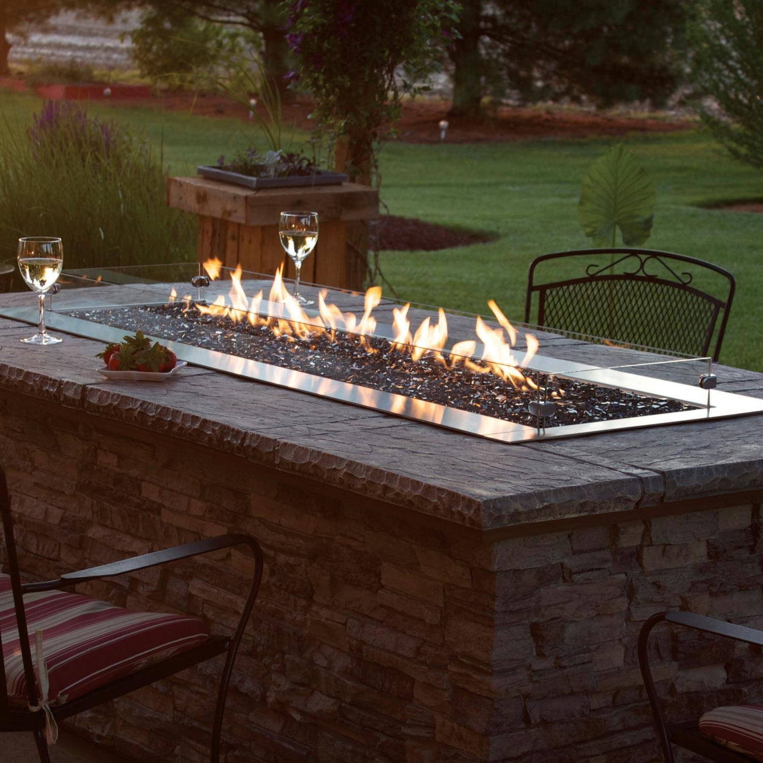 Amazon.com : White Mountain Hearth by Empire Carol Rose 48-inch Natural Gas  Outdoor Linear Fire Pit Kit W/Manual Electronic Ignition - Ol48tp10n :  Garden & ... - Amazon.com : White Mountain Hearth By Empire Carol Rose 48-inch