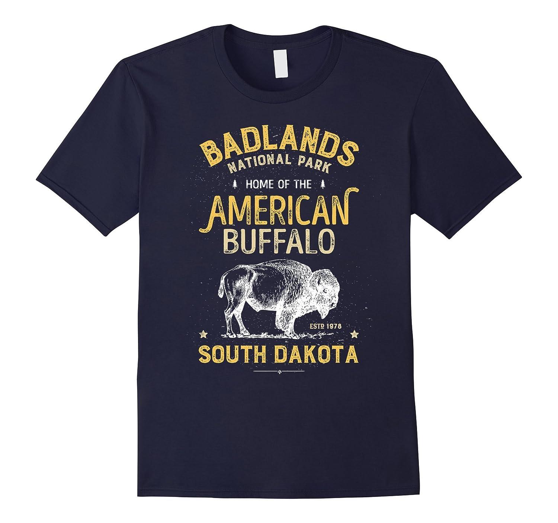 Badlands National Park Buffalo Bison South Dakota T shirt-Art