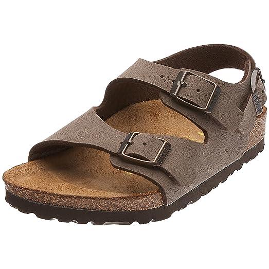 Roma Mocca Birkibuc Sandals Narrow Width