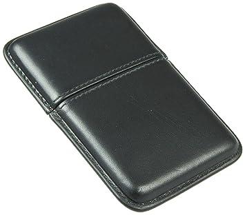 Lucrin Porte-cartes de visite Etui encastrable en cuir de vachette Lisse  Noir 65c4eb50ae5