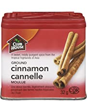 Club House, Quality Natural Herbs & Spices, Ground Cinnamon, Plastic Can, 32g