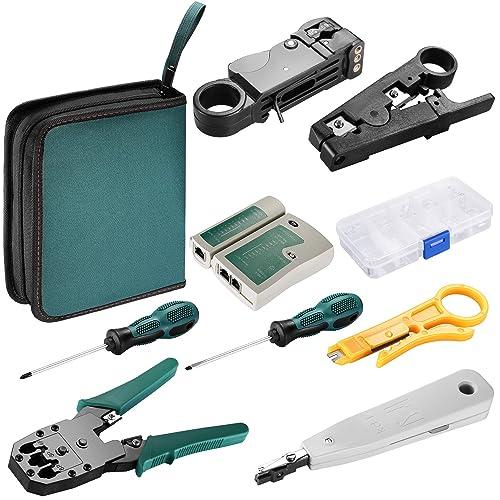 Neewer® – kit de herramientas para redes RJ45 RJ11 CAT5 con crimpadora y probador LAN