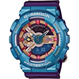 Casio G-Shock GMAS-110HC Analog Digital Watch - Purple, Red, Blue