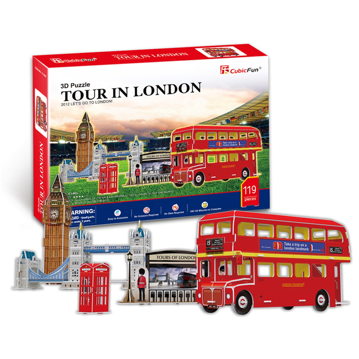 CubicFun 3D Puzzle C-Series Tour in London Five Puzzles